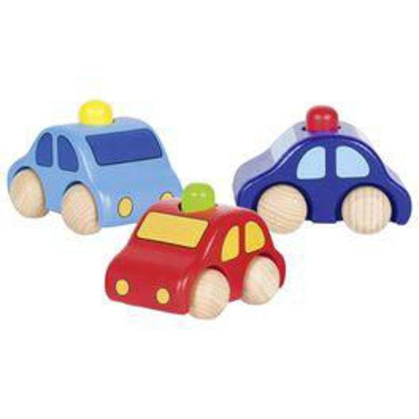 Obrázek Dřevěné autíčko s houkačkou (Goki)