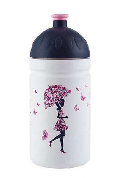 Obrázek Zdravá lahev 0,5 l - Dívka s deštníkem