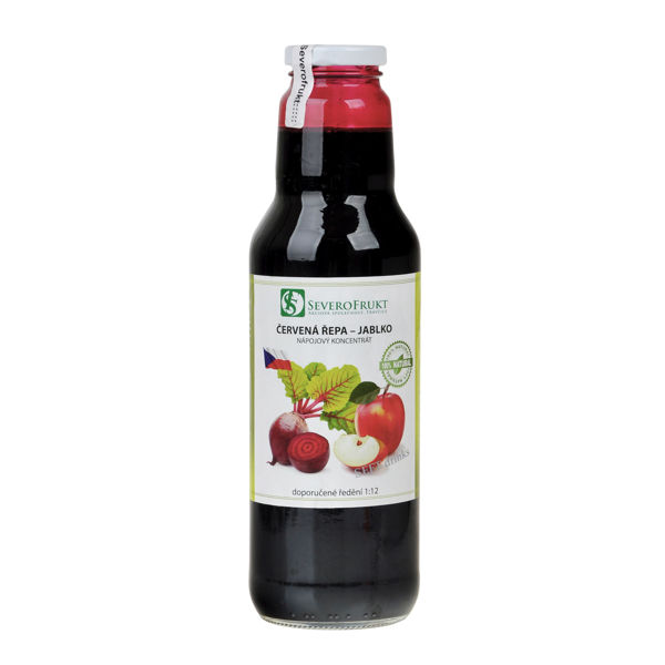Obrázek Koncentrát jablko -červená řepa 750 ml SEVEROFRUKT