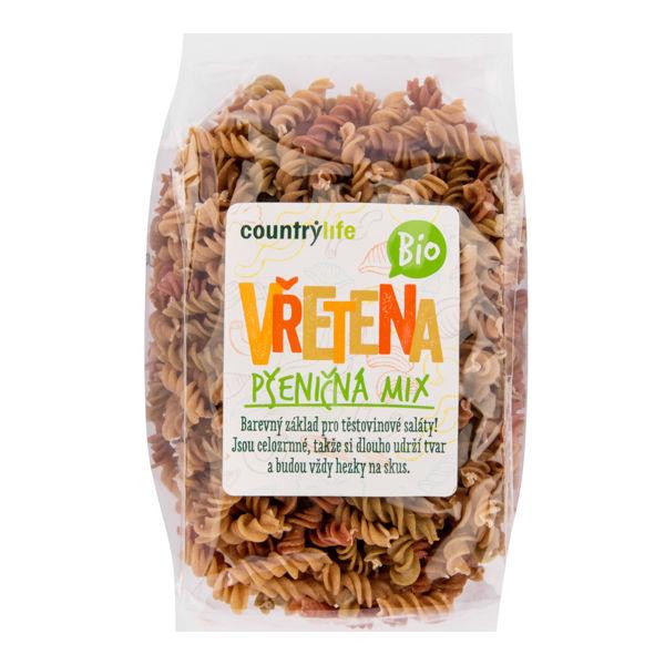 Obrázek Těstoviny vřetena pšeničná mix 400g COUNTRYLIFE