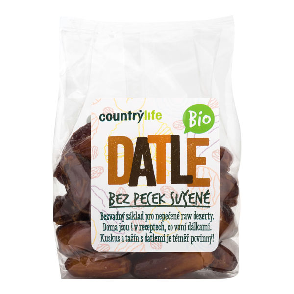 Obrázek Datle sušené bez pecek 250g COUNTRYLIFE