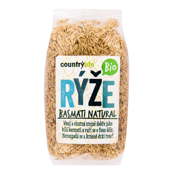 Obrázek Rýže basmati natural 500 g COUNTRY LIFE