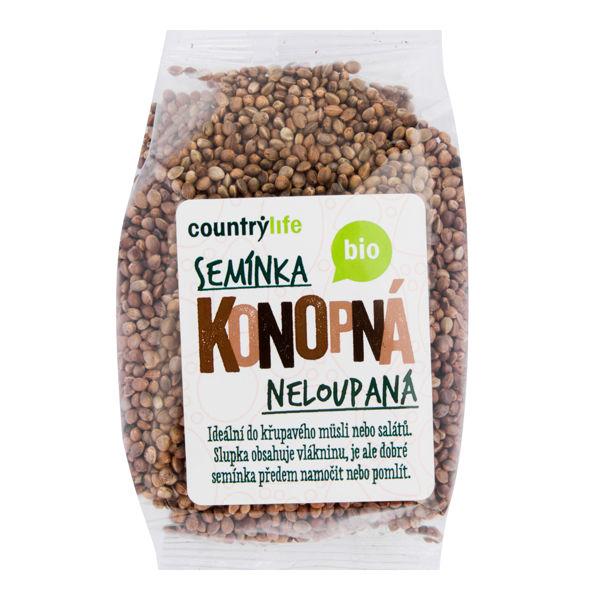 Obrázek Konopná semínka neloupaná 250 g COUNTRY LIFE