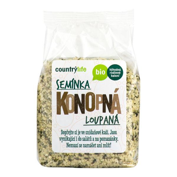 Obrázek Konopná semínka loupaná 250 g COUNTRYLIFE