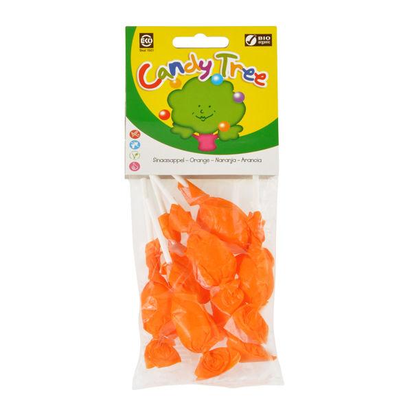 Obrázek Lízátka s příchutí pomeranč bezlepková 7x10 g CANDY TREE
