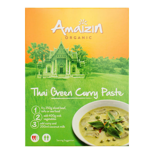 Obrázek Pasta - thajské zelené kari 80g AMAIZIN