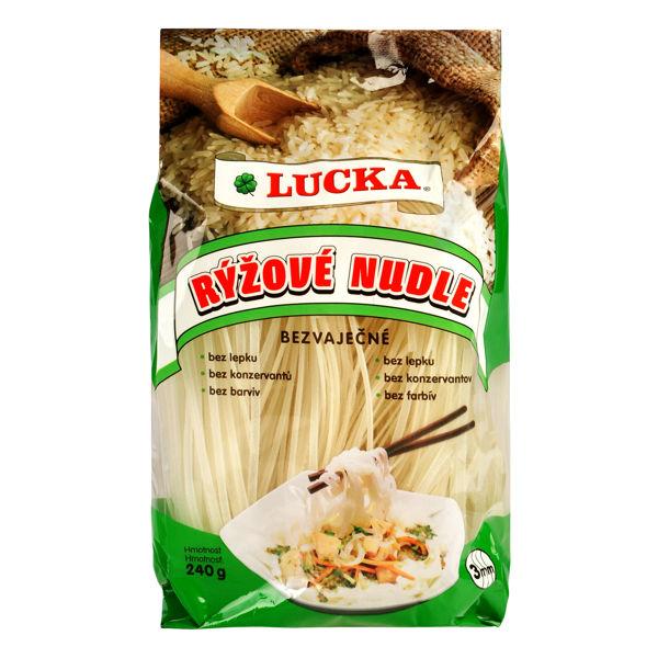 Obrázek Rýžové nudle 3 mm 240 g LUCKA