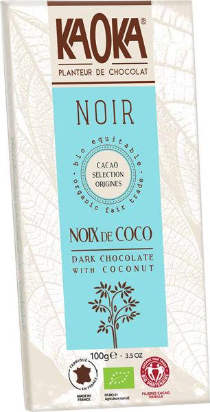 Obrázek Hořká čokoláda s kokosem 100 g KAOKA