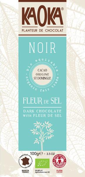 Obrázek Hořká čokoláda Fleur de sel 100 g KAOKA