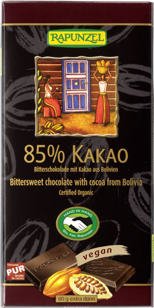 Obrázek Čokoláda hořká 85% 80g RAPUNZEL