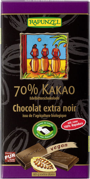 Obrázek Čokoláda hořká 70% 80 g RAPUNZEL