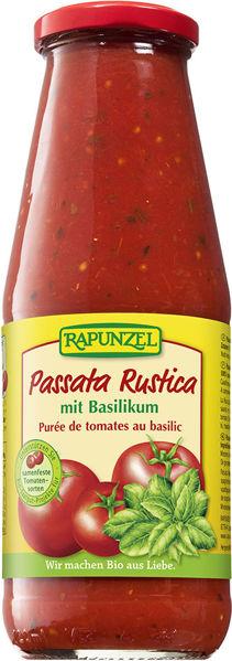 Obrázek Passata rustica s bazalkou 680 g RAPUNZEL