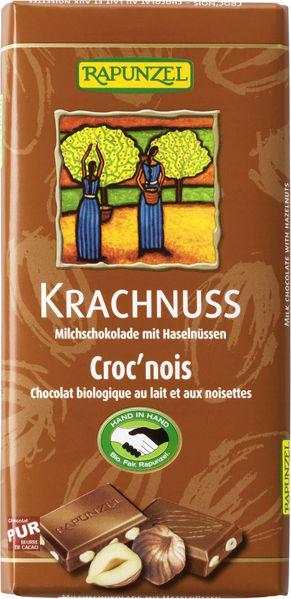 Obrázek Mléčná čokoláda s lískovými oříšky 100 g RAPUNZEL