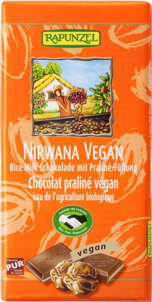 "Obrázek ""Mléčná"" rýžová čokokoláda Nirwana 100 g RAPUNZEL"