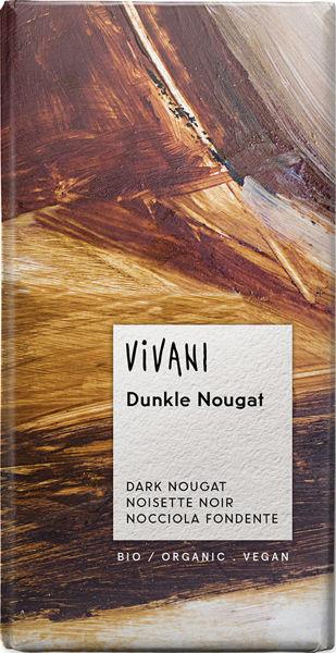 Obrázek Hořká čokoláda nugátová 100 g VIVANI