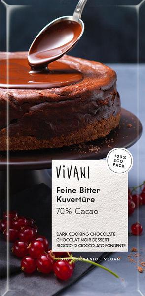 Obrázek Čokoláda na vaření - hořká 200 g VIVANI