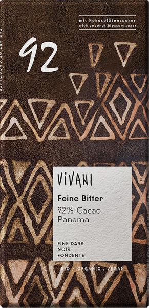 Obrázek Hořká čokoláda 92% 80 g VIVANI