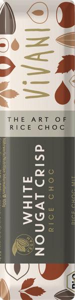 Obrázek Bílý nugát s rýžovým mlékem a oříšky 35 g VIVANI
