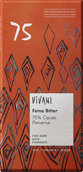 Obrázek Hořká čokoláda 75% 80 g VIVANI
