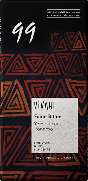 Obrázek Hořská čokoláda 99% 80 g VIVANI