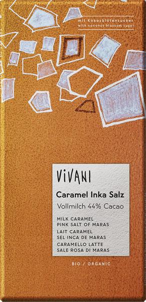 Obrázek Mléčná čokoláda s karamelem a solí 80 g VIVANI