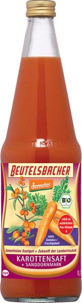 Obrázek Mrkvová šťáva s rakytníkem 100% 700 ml BEUTELSBACHER