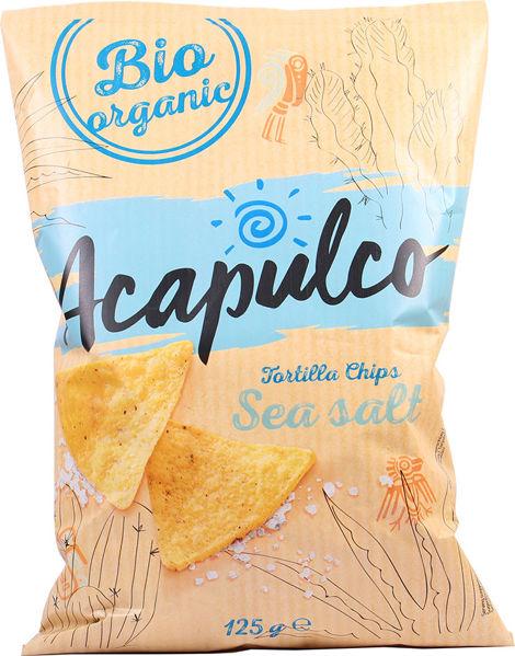 Obrázek Tortilla chipsy mořská sůl 125 g ACAPULCO