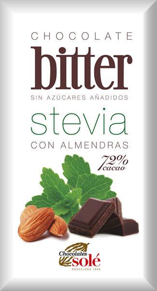 Obrázek Hořká čokoláda s mandlemi a stévií 100 g SOLÉ