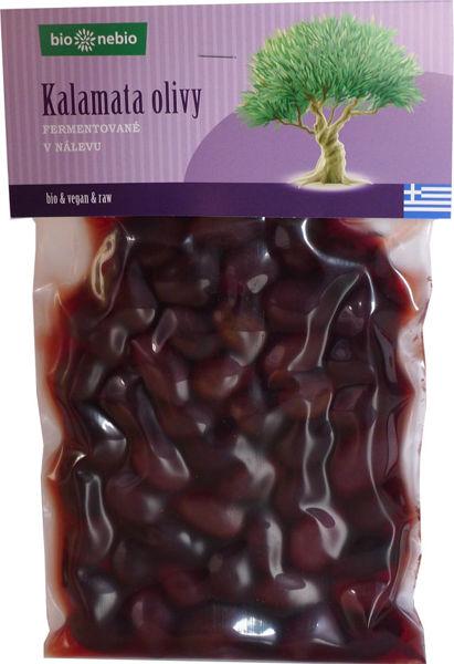 Obrázek Kalamata olivy - fermentované 220g BIONEBIO