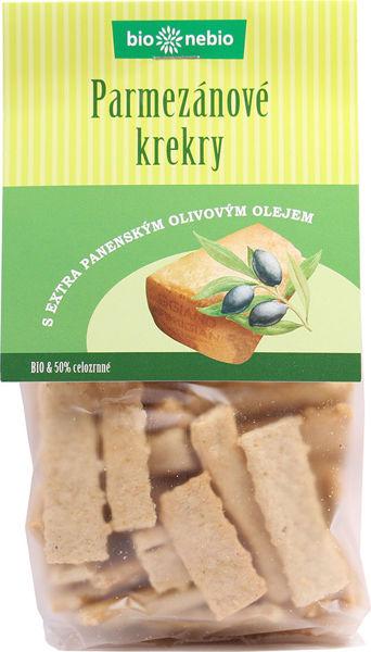 Obrázek Parmezánové krekry olivový olej 130 g BIONEBIO
