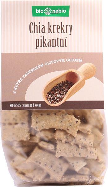 Obrázek Chia krekry pikantní 130 g BIONEBIO