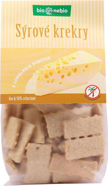Obrázek Sýrové krekry 130 g BIONEBIO