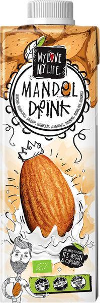 Obrázek Mandlový nápoj neslazený 750 ml MY LOVE MY LIFE