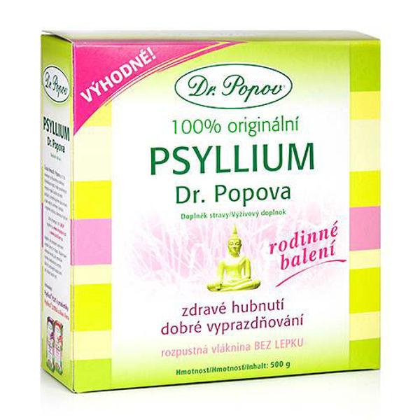 Obrázek Psyllium a rodinné balení 500 g DR. POPOV