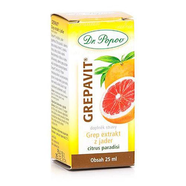 Obrázek GREPAVIT® – grep extrakt z jader, 25 ml DR. POPOV
