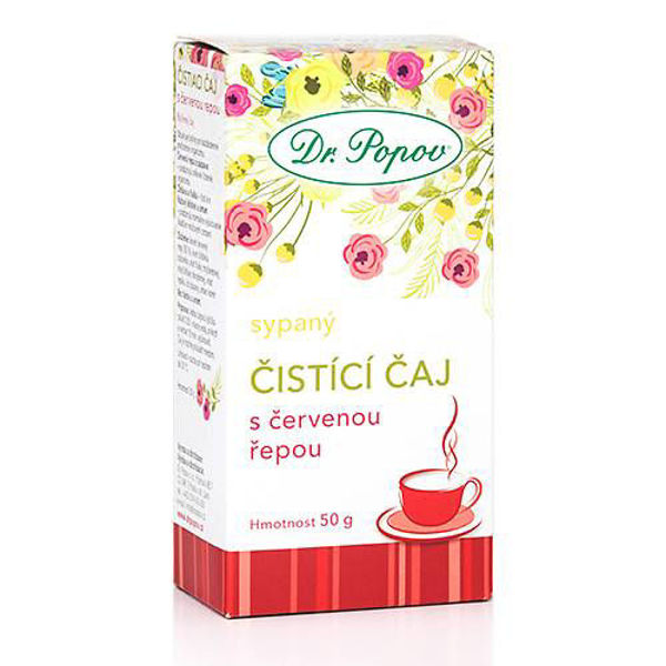 Obrázek Čistící čaj s červenou řepou, sypaný, 50 g DR. POPOV