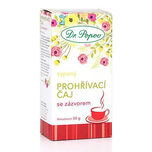 Obrázek Prohřívací čaj se zázvorem 50 g DR. POPOV