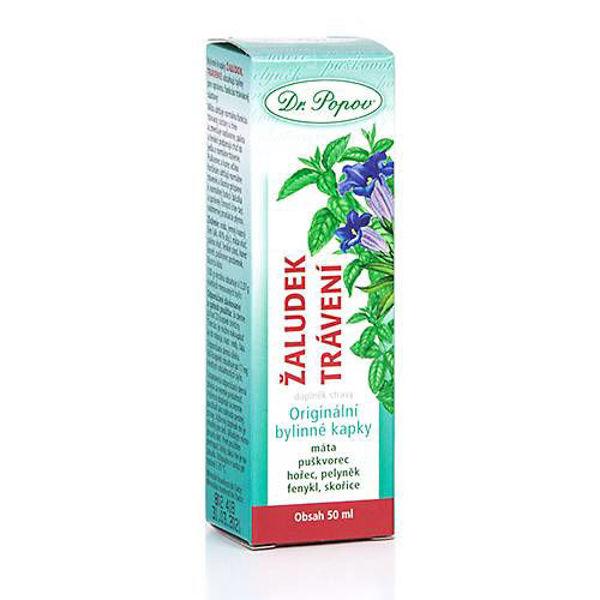 Obrázek Žaludek – trávení, originální bylinné kapky, 50 ml DR. POPOV