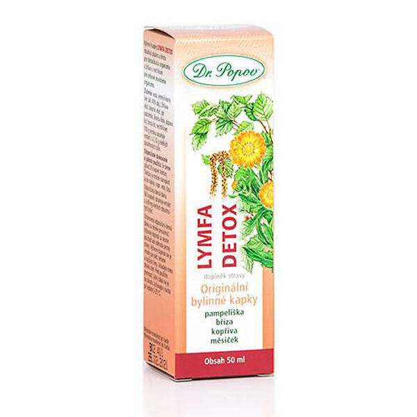 Obrázek Lymfa – detox, originální bylinné kapky, 50 ml DR. POPOV