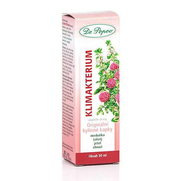 Obrázek Klimakterium, originální bylinné kapky, 50 ml DR. POPOV