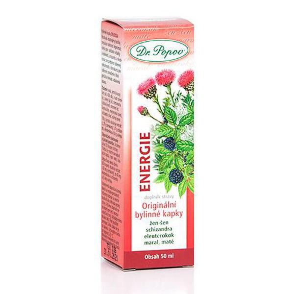 Obrázek Energie, originální bylinné kapky, 50 ml DR. POPOV