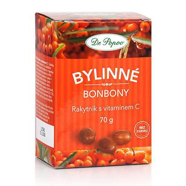 Obrázek Bonbony Rakytník s vitamínem C, 70 g DR. POPOV