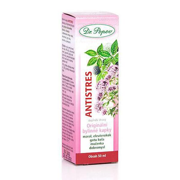 Obrázek Antistres, originální bylinné kapky, 50 ml DR. POPOV
