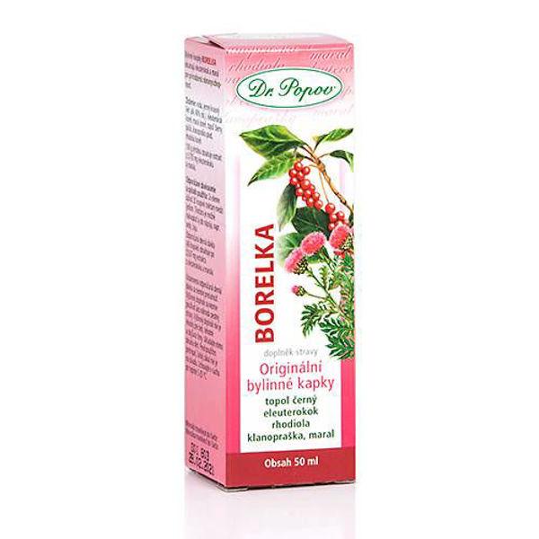 Obrázek Borelka, originální bylinné kapky, 50 ml DR. POPOV