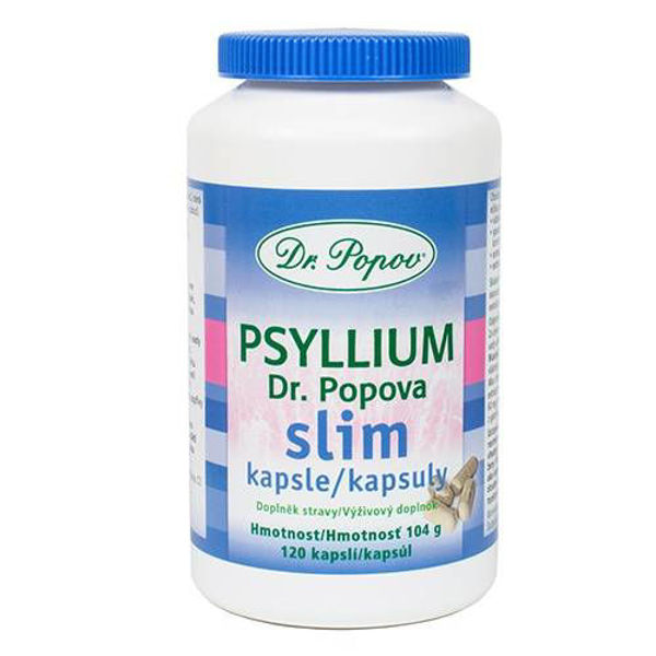Obrázek Psyllium a slim kapsle 120 ks po\po DR. POPOV