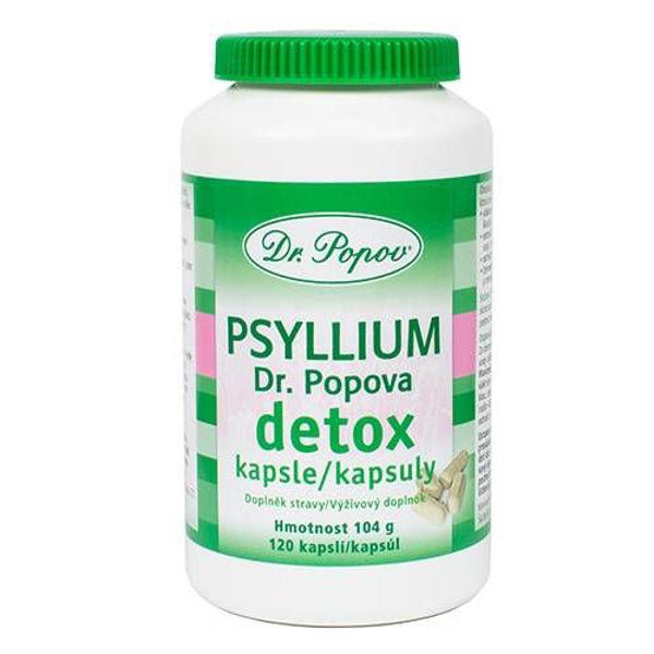 Obrázek Psyllium detox kapsle 120 ks DR. POPOV
