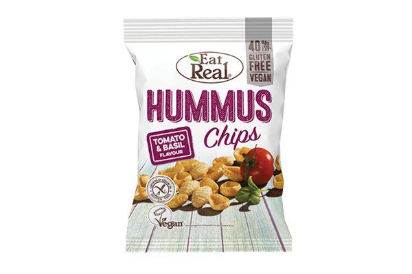 Obrázek Hummus chips - rajče a bazalka 45 g EAT REAL