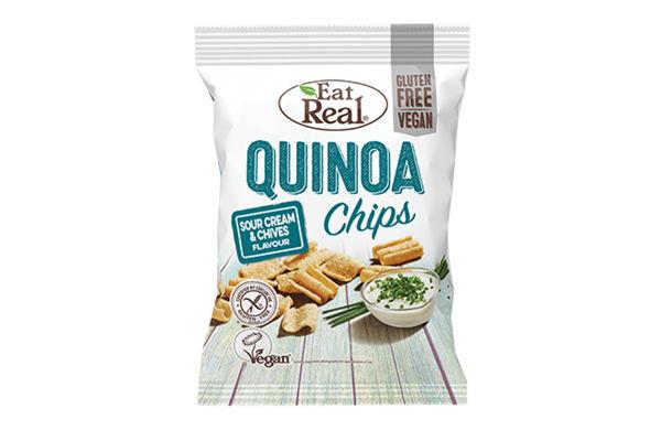 Obrázek Chipsy quinoa se smetanou a pažitkou 30 g EAT REAL