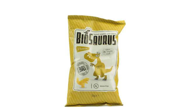 Obrázek Pečený kukuřičný snack sýrová příchuť 50 g BIOSAURUS