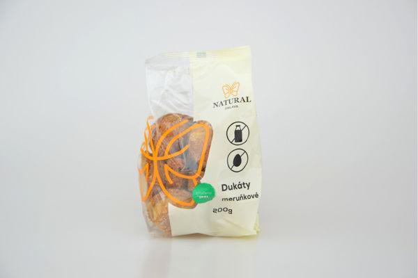 Obrázek Dukátky meruňkové 200 g NATURAL